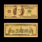 US Currency Paper 100 Dollar Money Gold 999 Gold Plated Banknote For Collections
