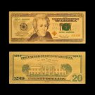 USA Dollar Money 20 Dollar Gold Foil Currency Paper Banknote For Collections