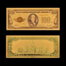 1928 US Banknotes 100 Dollar Money 24kin Gold Plated Banknote For Collections