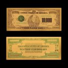 US Dollar Money 10000 Dollar Gold Plated Fake Banknote US Currency Paper Money For Collections