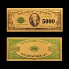 1918 New US Currency Paper 5000 Dollar Money 24k Gold Banknote Paper Money For Collections