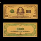 US Gold Money 1000 Dollars 24k Gold Plated Banknote Paper Money For Collections