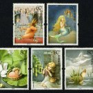 5Pcs Andersen Fairy Tales China All New Postage Stamps For Collection