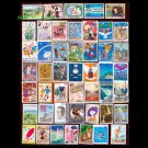 100Pcs All Different Japanese Used Big Size Postage Stamps Off Paper With Post Mark For Collection
