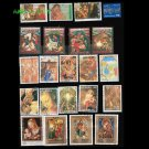 95Pcs Topic Christmas And Easter Used and Unused Postage Stamps With Post Mark For Collection