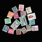 17Pcs French Colonial Used And Unused Vintage Postage Stamps For Collection Gift
