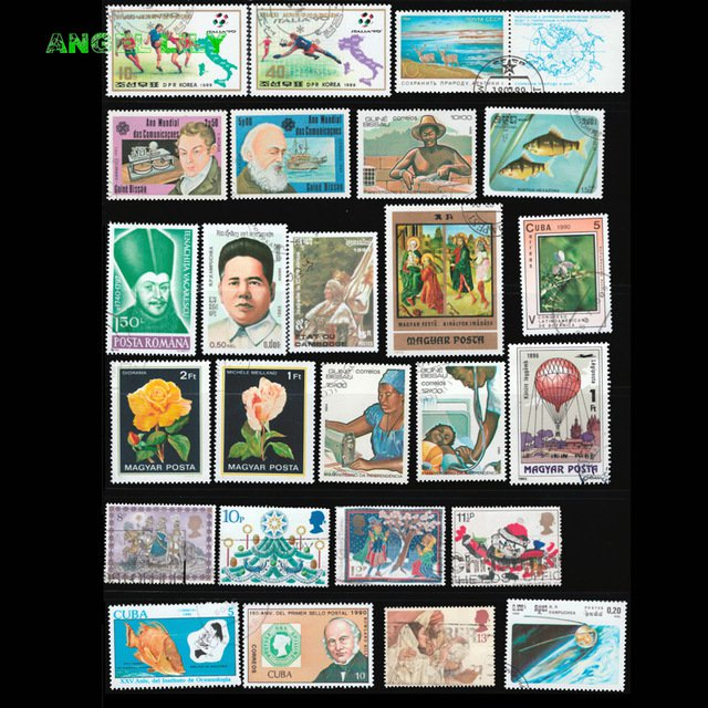 100Pcs All Different Used Postage Stamps From Many Country For Collection