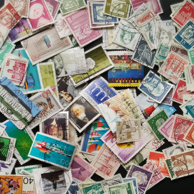 100Pcs Germany All Different Commen Postage Stamps Used Post Stamps With Post Mark For Collections