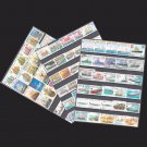 250Pcs Topic Ship Boat Warship Unused Postage Stamps With Post Mark For Collection