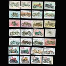 50Pcs Topic Motorcycle Unused Postage Stamps With Post Mark In Good Condition For Collectiong