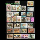 30Pcs Vintage Postage Stamps From The World Wide Used With Post Mark Postage Stamps Collecting