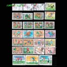 50Pcs All Different Topic Football Unused Postage Stamps With Post Mark For Collection