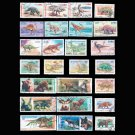 50Pcs Dinosaur Animal All Different Unused Postage Stamps With Post Mark For Colleciton
