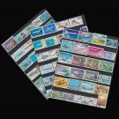 100Pcs Plane Aircraft Jet All Different Unused Postage Stamps With Post Mark For Colleciton