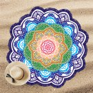 150cm Chakra Beach Towel Tassel Indian Toalla Mandala Tapestry Sunblock Round Cover-Up Blanket