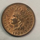 """1908 United States """"Indian Head One Cent"""" Copy Coin"""