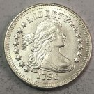 """1796 United States 25 Cents """"Liberty Draped Bust Quarter Dollar"""" Copy Coin"""