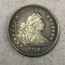 "1798 United States 1 Dime ""Draped Bust Dime"" Heraldic Eagle Copy Coin"