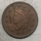 1835 United States Braided Hair Large One Cent Copy Coin