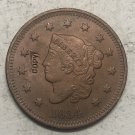 1834 United States Braided Hair Large One Cent Copy Coin