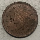 1820 United States Braided Hair Large One Cent Copy Coin