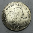 1802 United States Draped Bust One Dollar Silver Plated Coin Exact Copy Coin