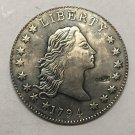 1804 United States Flowing Hair One Dollar Silver Plated Exact Copy Coin