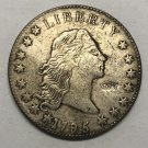 1795 United States Flowing Hair One Dollar Silver Plated Exact Copy Coin