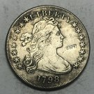 1798 United States Draped Bust One Dollar Silver Plated Exact Copy Coin
