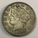 1898 United States V Five Cents Nickel Copy Coin
