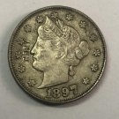 1897 United States V Five Cents Nickel Copy Coin