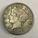 1891 United States V Five Cents Nickel Copy Coin