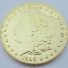 1898 United States Morgan One Dollar Gold Plated Copy Coin