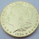 1884-CC United States Morgan One Dollar Gold Plated Copy Coin