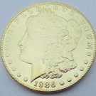 1886 United States Morgan One Dollar Gold Plated Copy Coin