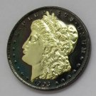 1903 United States Black Ruthenium Morgan Dollar 2 Sided Gold Plated Copy Coin