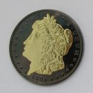1885-CC United States Black Ruthenium Morgan Dollar 2 Sided Gold Plated Copy Coin