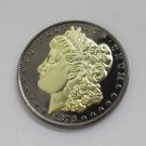 1878-CC United States Black Ruthenium Morgan Dollar 2 Sided Gold Plated Copy Coin