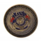 Gold Plated U.S. Navy Chiefs Commemorative Souvenir Challenge Coin