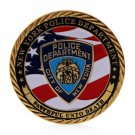 New York Police Department Gold Plated Commemorative Souvenir Challenge Coin