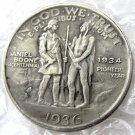 US 1936 Daniel Boone Bicentennial Half Dollar Copy Coins  For Collection