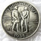 US 1934 Daniel Boone Bicentennial Half Dollar Copy Coins  For Collection