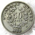 United States 1869 Half Dollars / 50 Cents Copy Coins  For Collection
