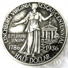 US 1936 Lynchburg Silver Commem Half Dollar Rare Circulated Copy Coins  For Collection