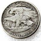 USA 1921 Alabama Commemorative Half Dollar Copy Coins  For Collection
