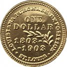 USA 1903 St. Louis Louisiana Purchase Exposition Gold One Dollar Copy Coins  For Collection