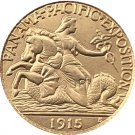 USA 1915 Panama Pacific Exposition Gold 2 1/2 Dollar Copy Coins  For Collection