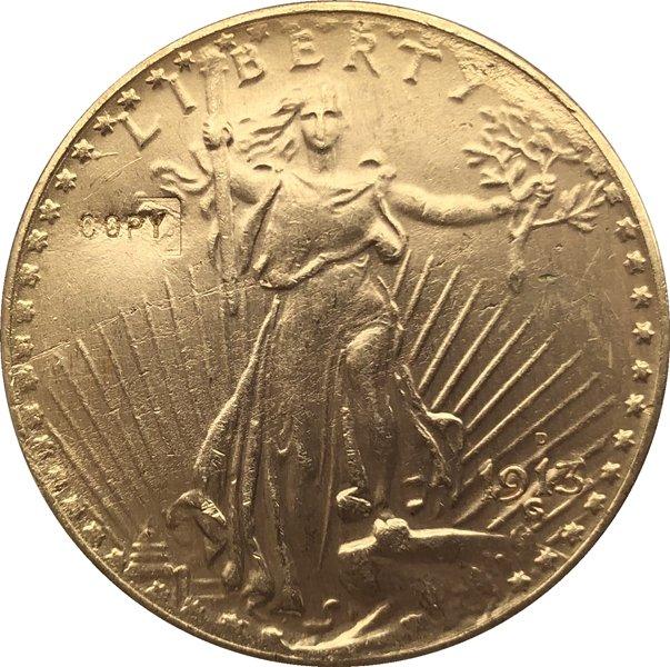 US 1913-D Saint Gaudens $20 Twenty Dollars Gold Copy Coin  For Collection
