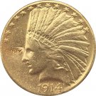 US 1914 Indian Head Half Eagle $10 Ten Dollars Gold Copy Coin  For Collection