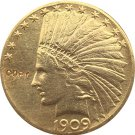 US 1909-S Indian Head Half Eagle $10 Ten Dollars Gold Copy Coin  For Collection